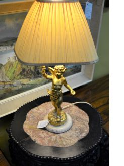Gilt plaster lamp
