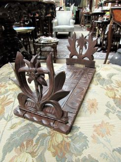 Victorian carved oak bookends
