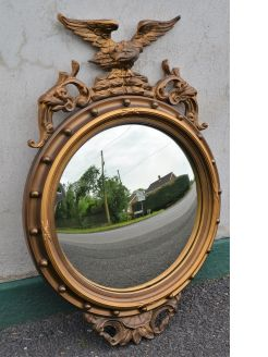 gilt framed convex mirror