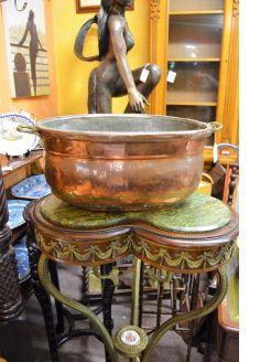 Antique copper basin