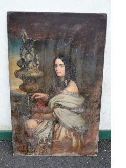 Large oil portrait on canvas, dutchess of somerset