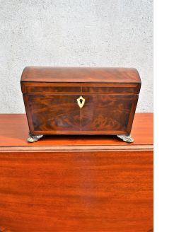 Victorian mahogany tea-caddy