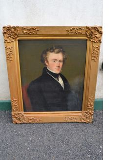 19th century oil portrait