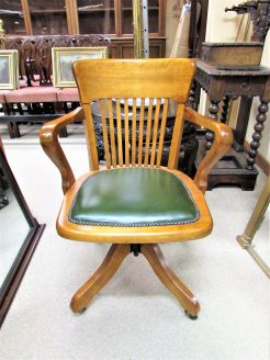 Mahogany office swivel chair
