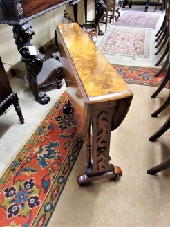 Victorian burr- walnut sutherland table