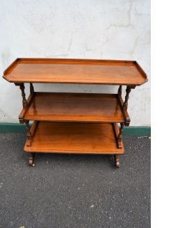 Walnut dumb waiter