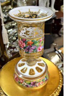 19th century bohemian glass painted vase