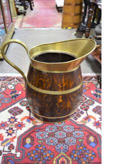 Oak and brass bound stickstand