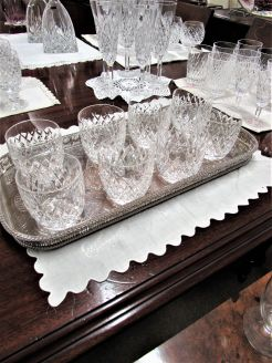 Set of eight tyrone crystal glasses