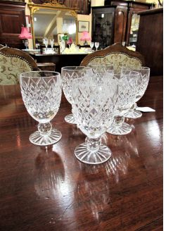 Set of six tyrone crystal glasses