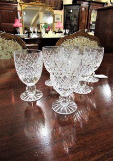 Set of six tyrone crystal glasses