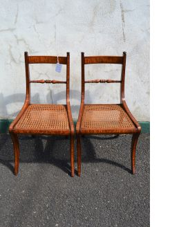 Pair of georgian satinwood chairs