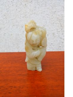 19th century chinese jade figure