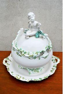 Italian porcelain tureen & stand