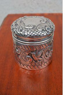 Silver jar & cover