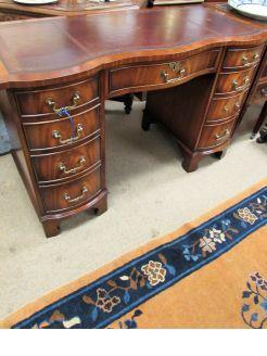 Leather top mahogany desk
