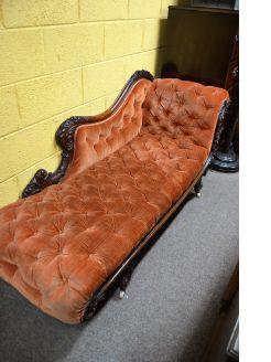 Victorian walnut settee