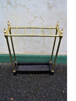 Victorian brass & iron stick stand