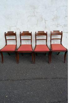 Set of four georgian mahogany chairs