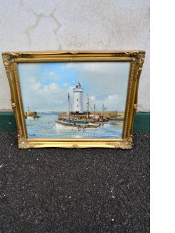 Gilt framed oil on canvas, signed