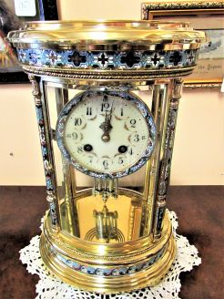 Brass & Clossonie victorian clock
