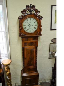Mahogany cased grandfather clock