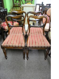 Set of victorian rosewood chairs