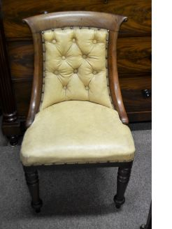 Victorian mahogany & leather chair