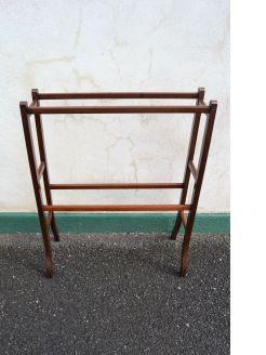 Mahogany towel rail with inlay