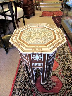 Moorish inlaid table (wood & bone)