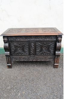 19th century oak oak coffer