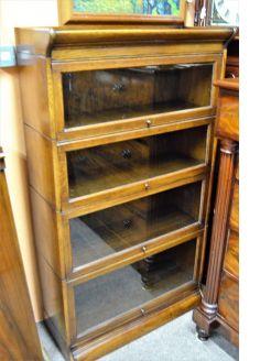 Oak sectional bookcase