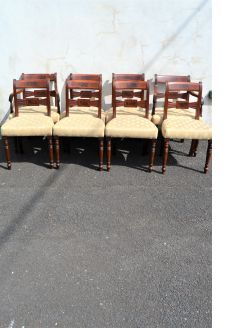 Set of eight georgian mahogany chairs
