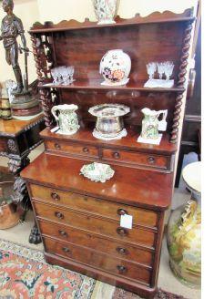 Victorian mahogany chest-wotnot