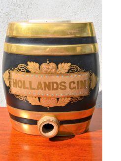 Porcelain hollands gin flask