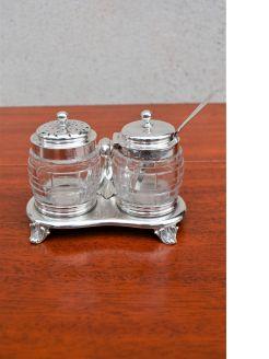 Victorian silver condiment