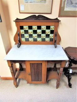 Edwardian washstand with marble top