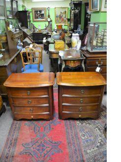 Pair of mahogany low chests