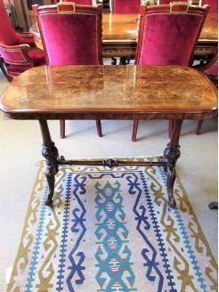 Burr-walnut side table
