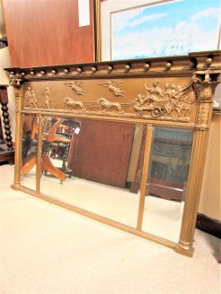 19th century gilt framed overmantle