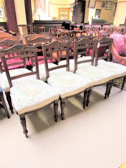 Set of eight late victorian mahogany chairs