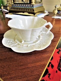 1st period belleek cup & saucer