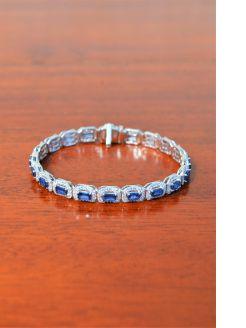 18ct gold sapphire & diamond bracelet