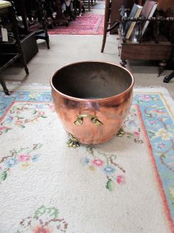 Copper & brass jardinere