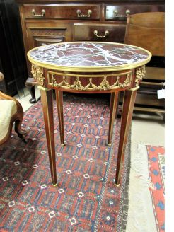 Marble top & gilt metal mounted table