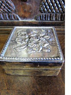 Italian silver & leather box