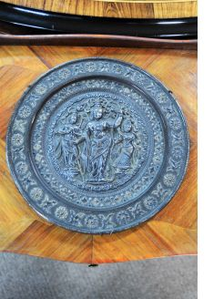 19th century indian bronze plaque