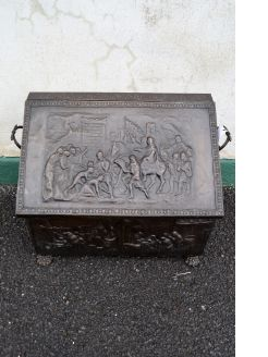 Copper coal box