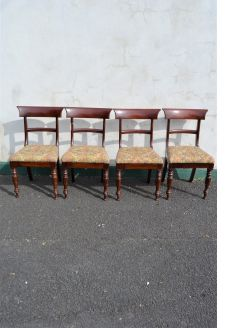 Set of four victorian mahogany chairs
