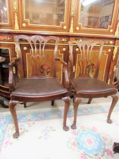 Set of eight victorian mahogany chairs